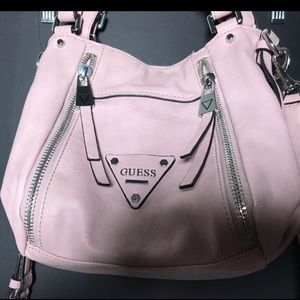 Pale Pink leather Guess Purse hobo bag